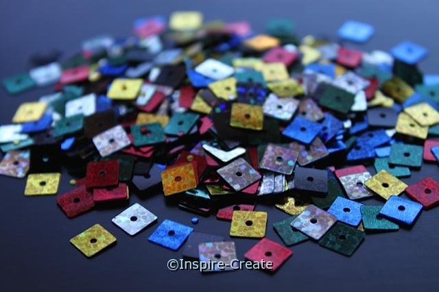6mm Multi Square Sequins (600 pcs)*