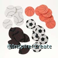 Foamies Sports Ball Stickers (60)*