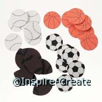 Foamies Sports Ball Stickers (60)*