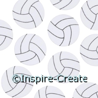 Foamies Volleyball Stickers (55)*