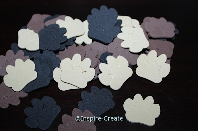 Small Paw Print Foam SHAPES Pack (216) ~All Sales Final