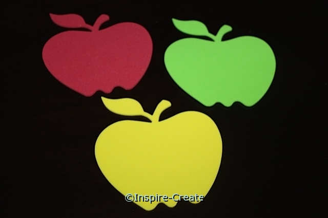 Assorted Foam Apple SHAPES (Bulk 60)*