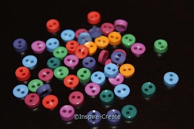 Gemstone Pastel Mini Buttons (40 pcs)*