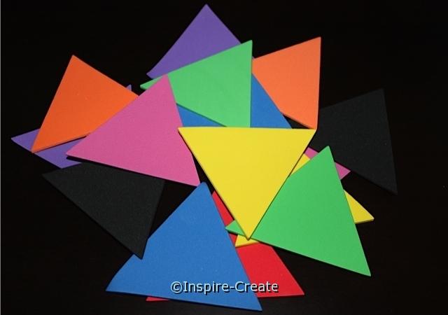 "3"" Triangle Foam SHAPES (Bulk 96) ~All Sales Final"