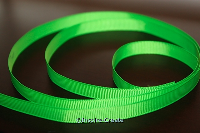 "Lime Green 3/8"" Grosgrain Ribbon (100 yards)*"