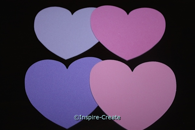 Foam Large Pastel Heart Shapes (Bulk 60)*