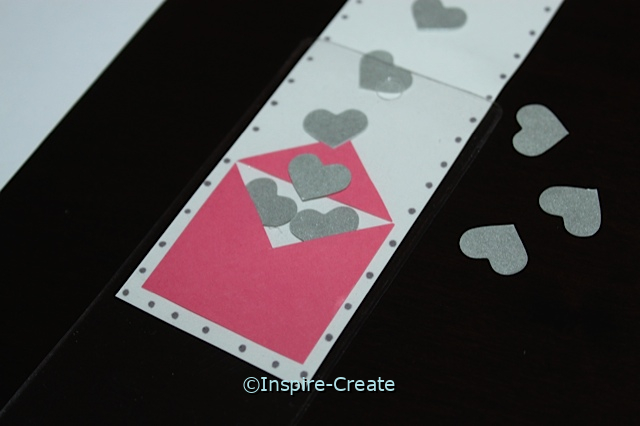 Heart Bookmarks with Vinyl Sleeves