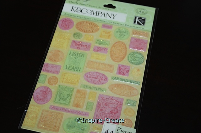 Clearly Yours Spring Blossom Word Sticker Sheet (44)*