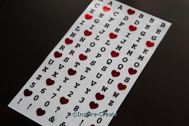 Happy Heart ABC Sticker Sheet*