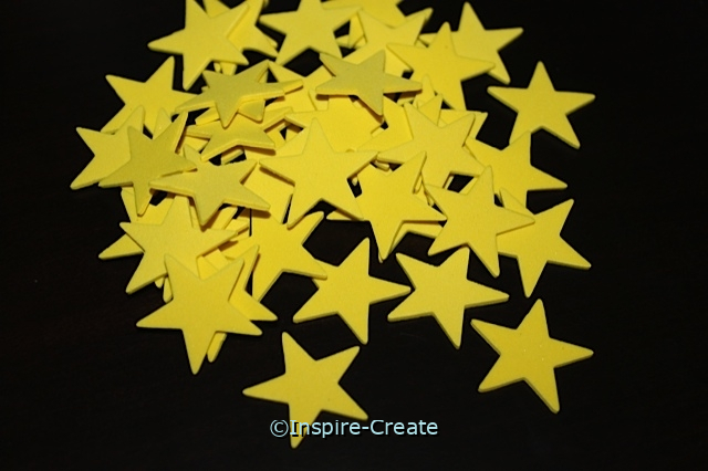 Small Yellow Star Foam SHAPES (Bulk 216)*