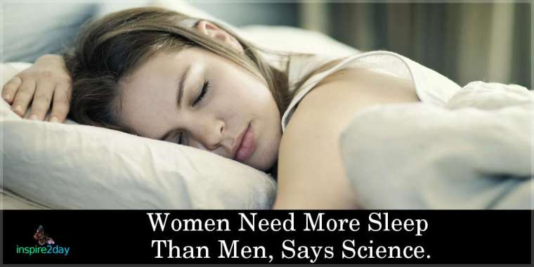 Let Her Sleep In! Women Need More Sleep Than Men, Says Science.