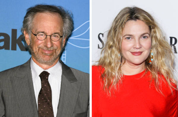 1. Steven Spielberg And Drew Barrymore