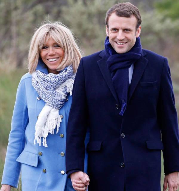 10. Brigette Trogneux and Emmanuel Macron