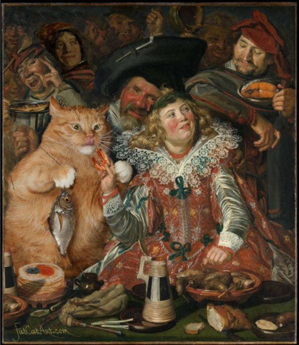 """15. """"Merrymakers at Shrovetide"""" by Frans Hals"""