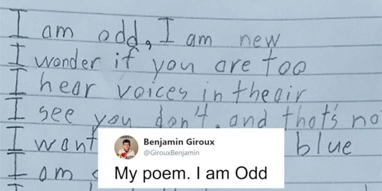 Autistic Boy Wrote A Heart-Melting Poem That Left His Teacher In Tears