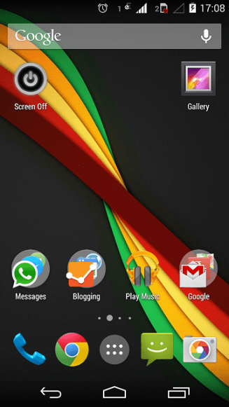Home screen in Google Now launcher.