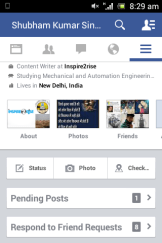 Facebook app updated on Mobile platform 3