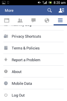 Facebook app updated on Mobile platform 5
