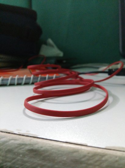 close shot of earphone cable taken with yureka
