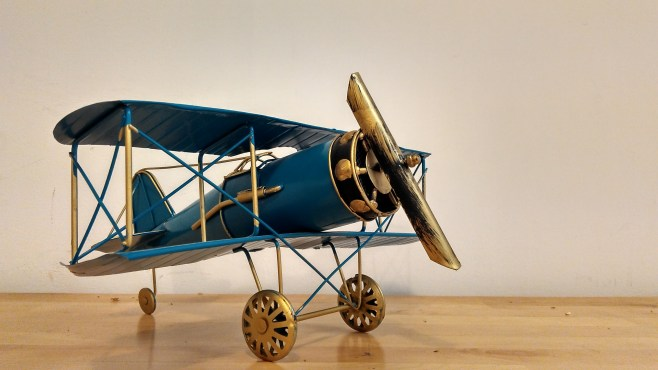 A close focus shot of an Airplane model!