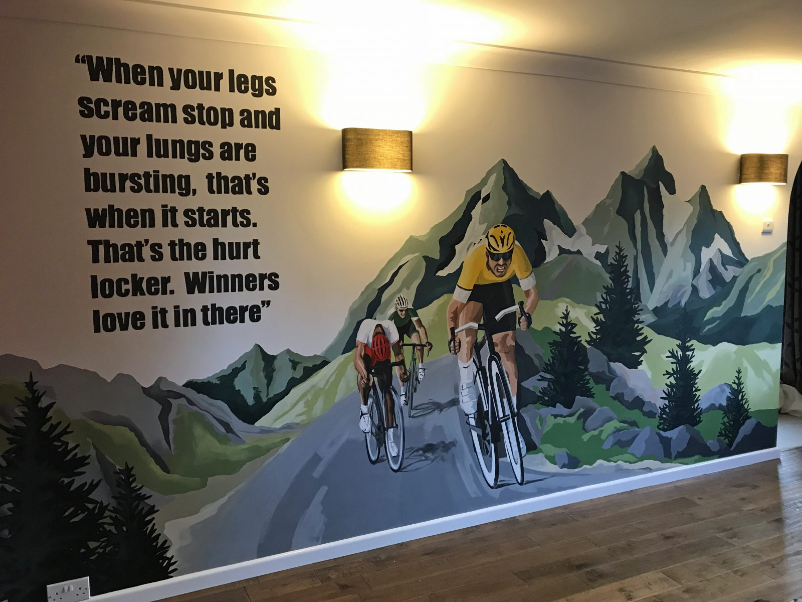Cycling Themed Contemporary Wall Murals