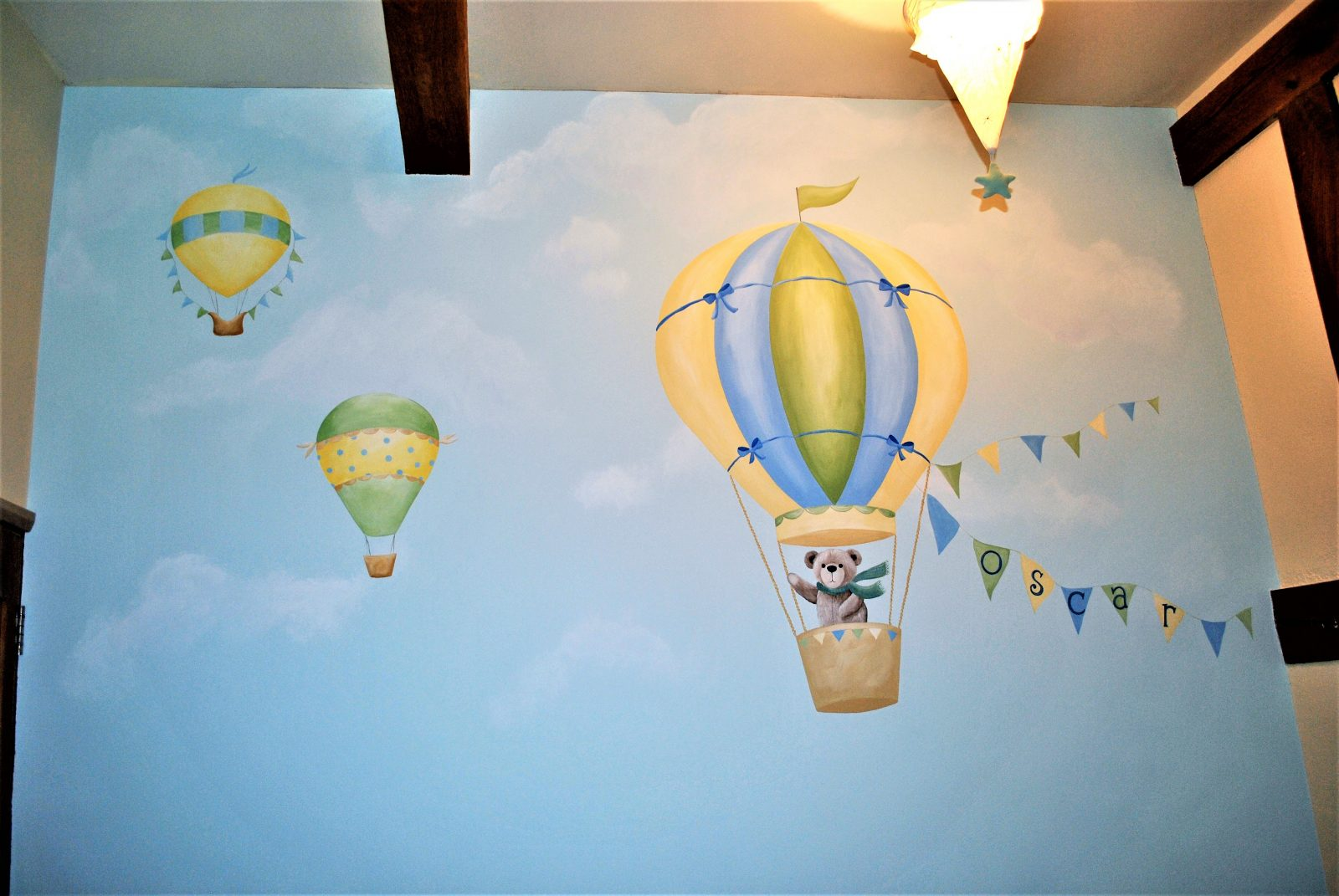 Hot Air Balloon Themed Nursery Murals