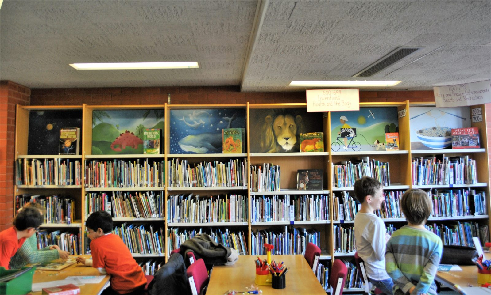 Library Mural Paintings