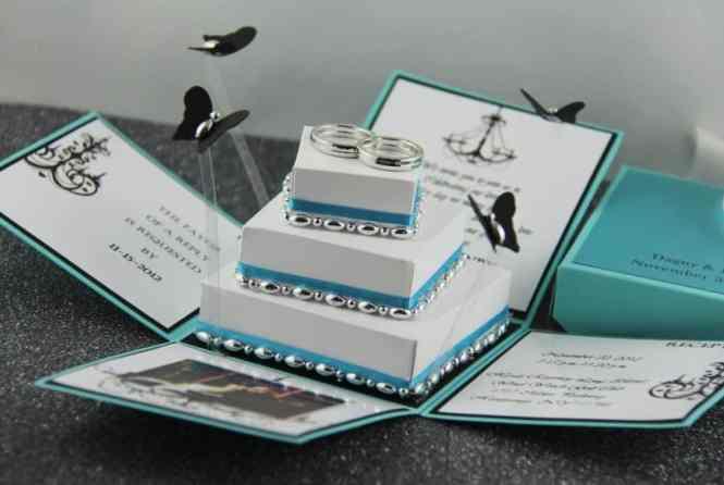 Exploding Box Wedding Invitations Inspired Bride