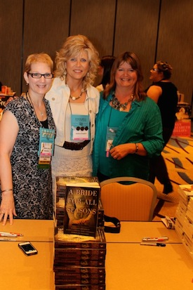 Authors Robin Lee Hatcher, Debra Clopton, and Mary Connealy