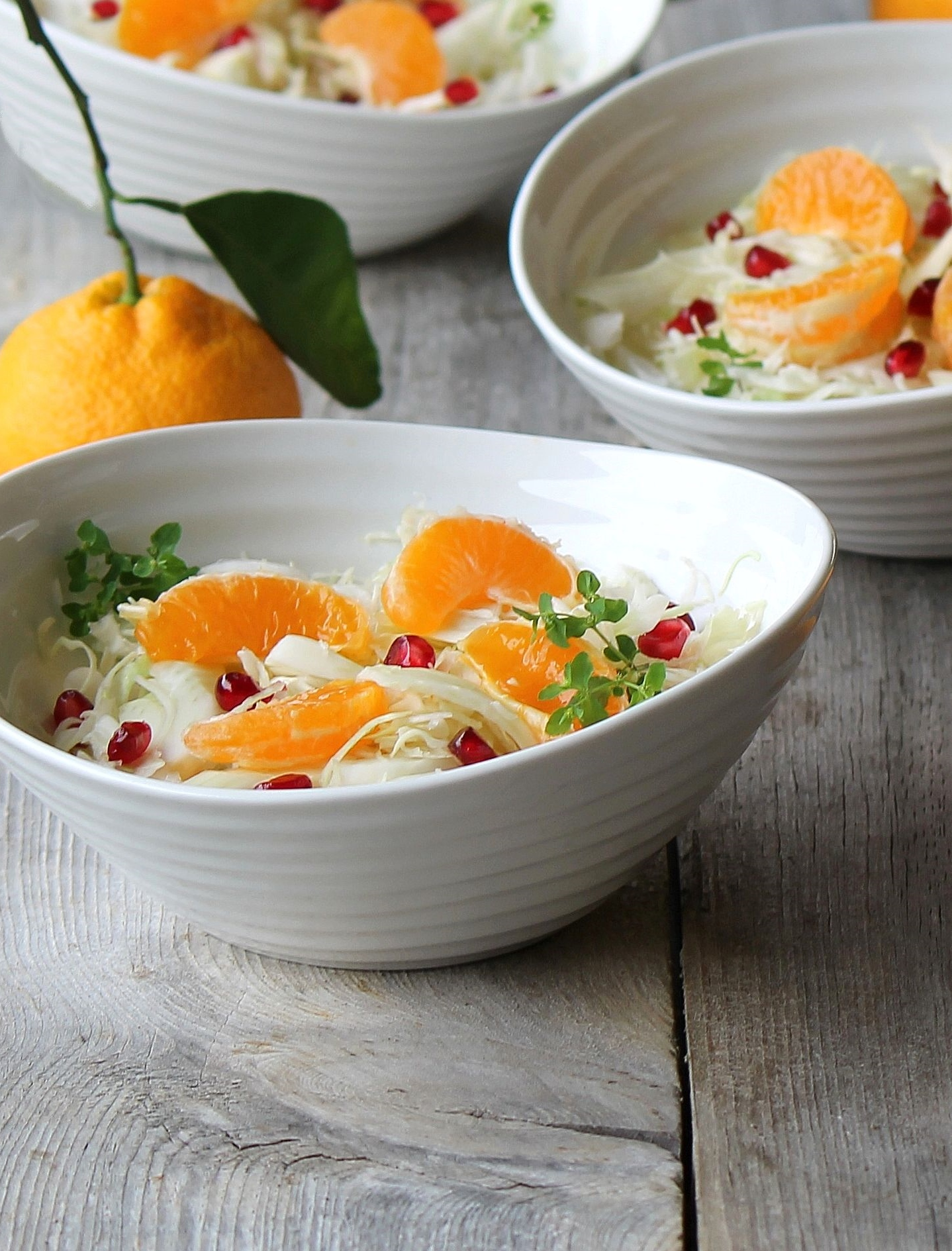 winter white salad with mandarin and pomegranate_1