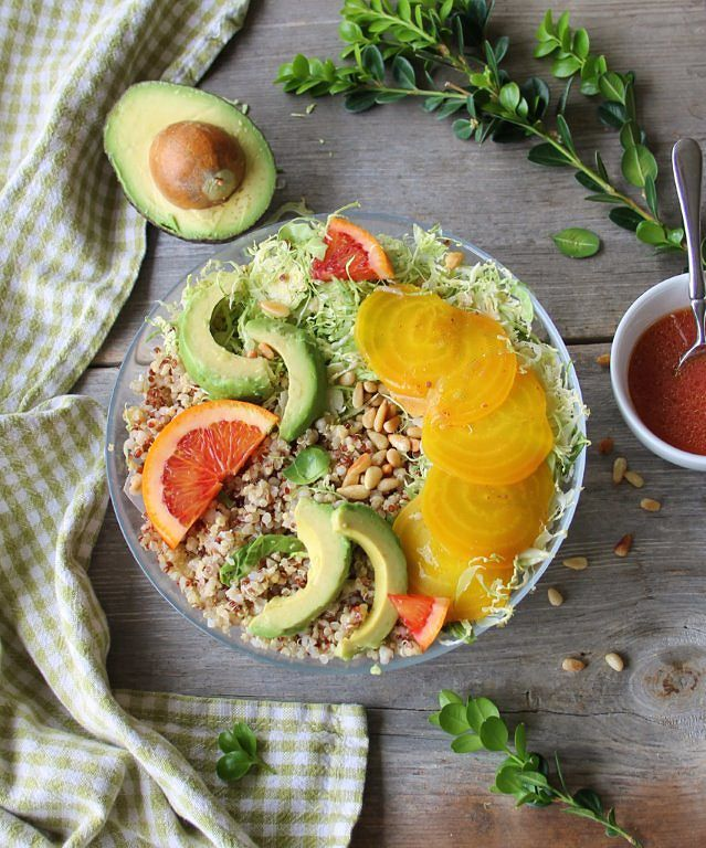 ancient grains salad with blood orange vinaigrette_main