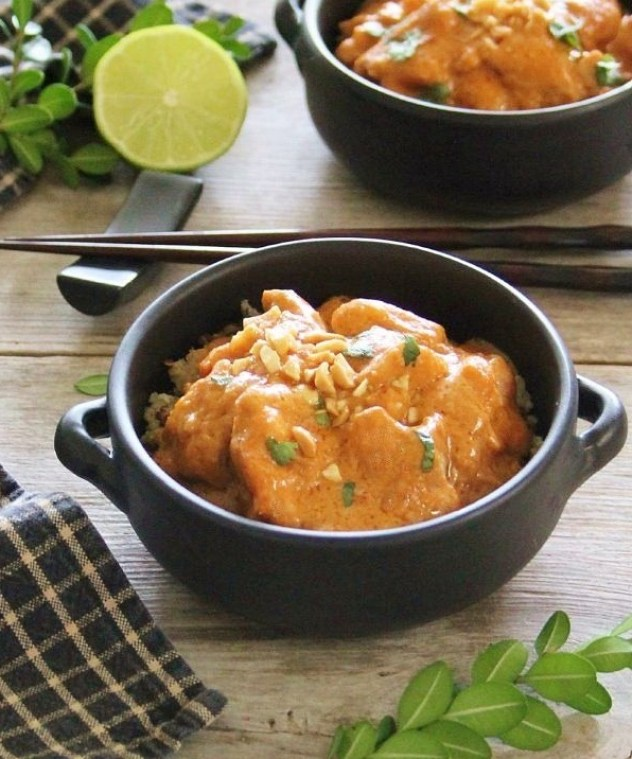 simple & delicious slow cooker peanut chicken