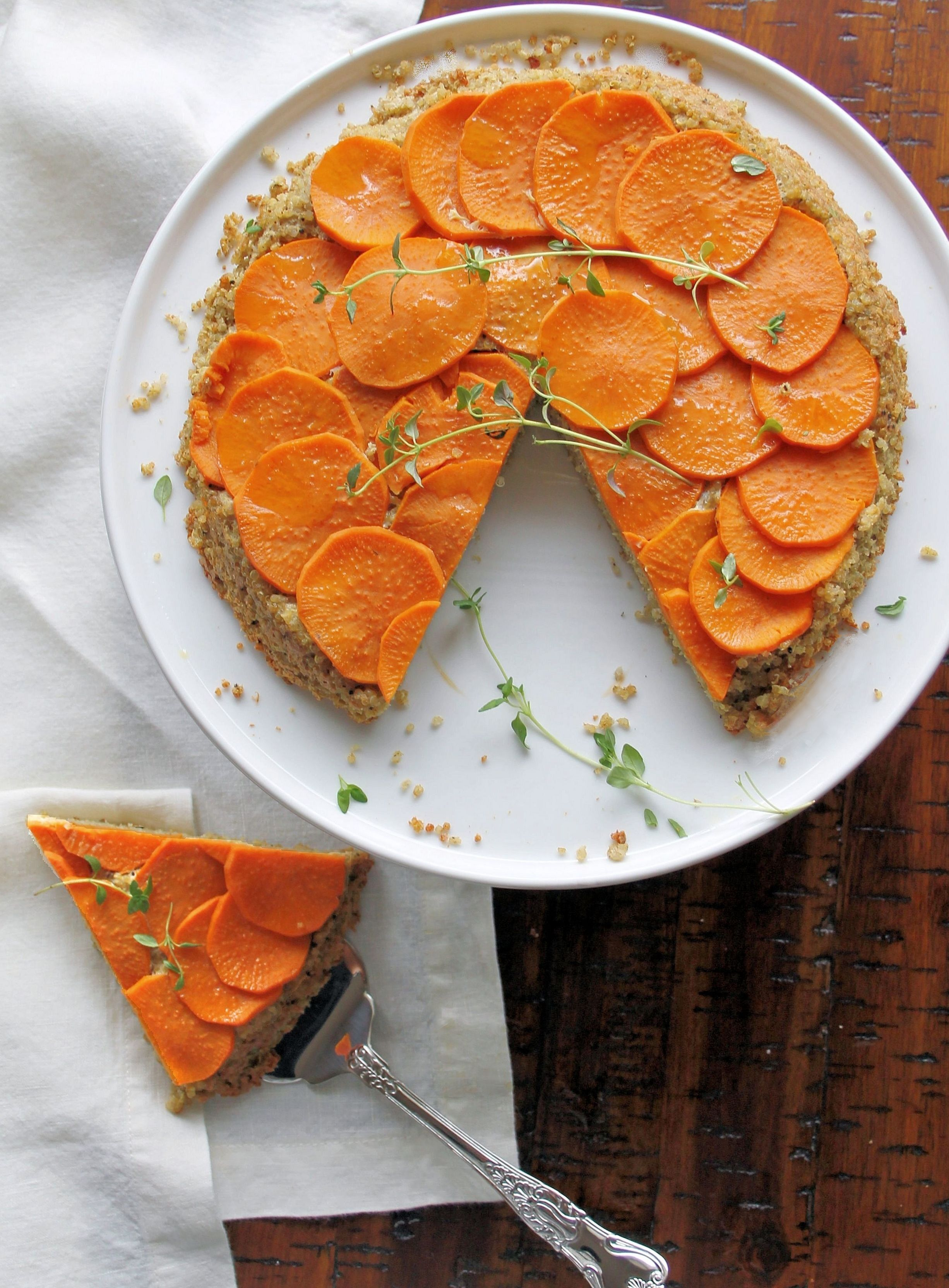 Savory Quinoa Pie with Sweet Potato (GF)