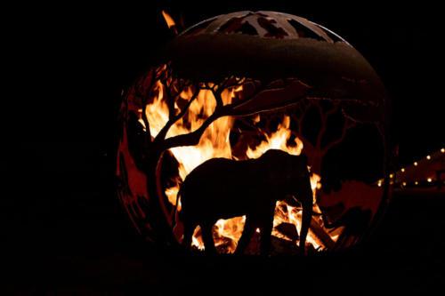 Firepit African Safari globe