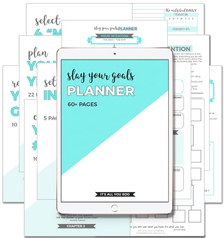 Slay Your Goals Planner-best 2018 goal planner-iPad