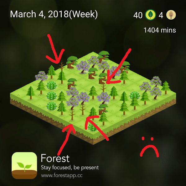 app to beat distraction dead trees
