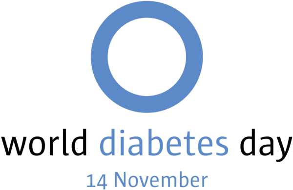 world diabetes day blue circle