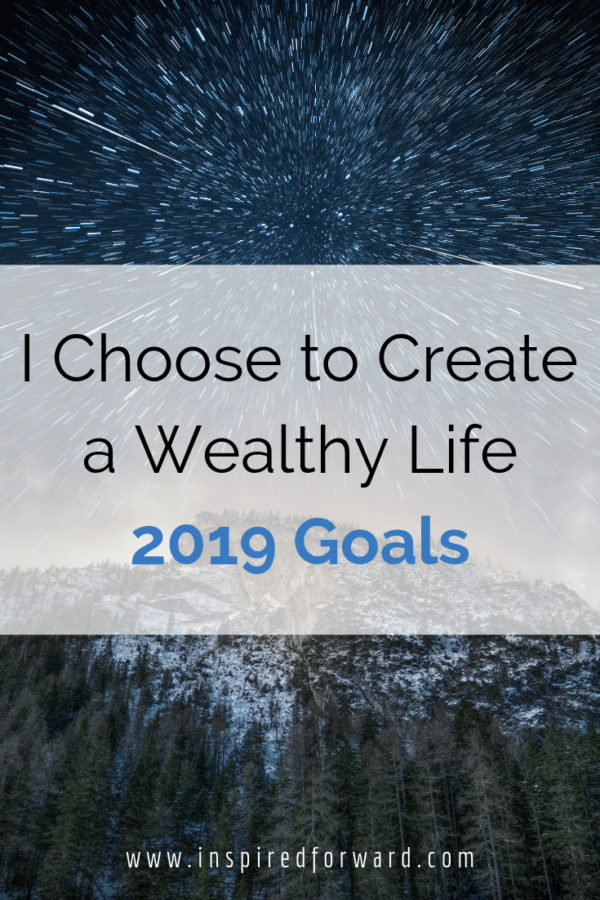New Year's Resolutions are shallow and never finished, but these concrete 2019 goals that get me towards my ultimate vision of a wealthy life are not.