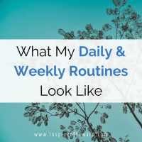 What My Daily & Weekly Routines Look Like
