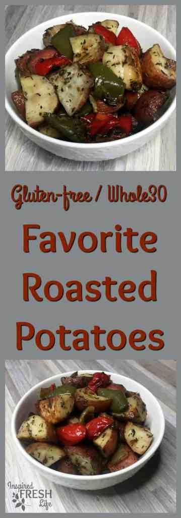 favorite roasted potatoes pinterest image