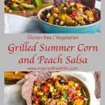 Grill Summer Corn and Peach Salsa Pinterest image.