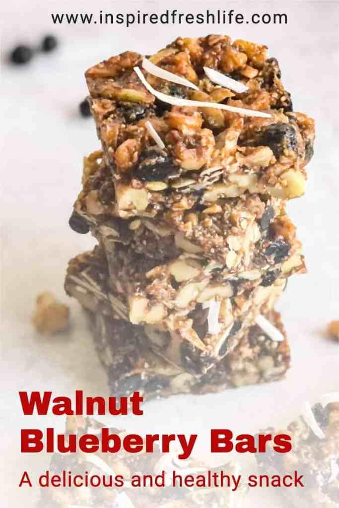 Pinterest image for Walnut Bars.