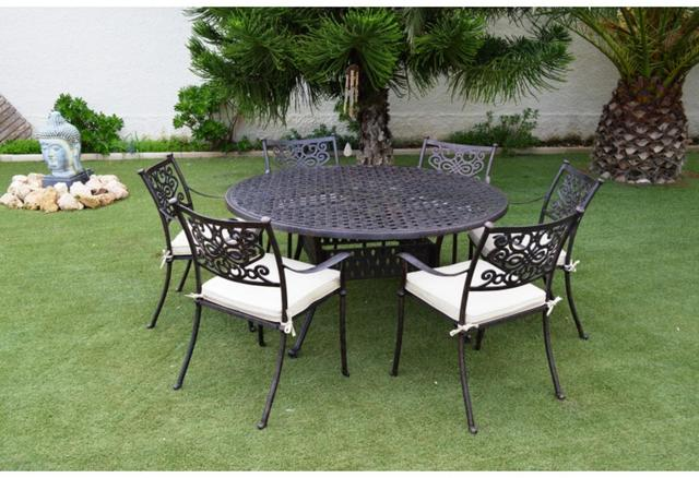 almeria large round patio table