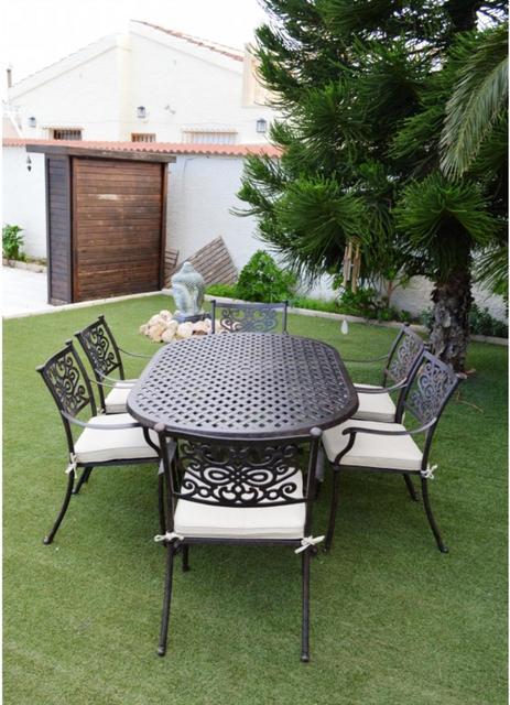 almeria oval oblong 6 seater patio set