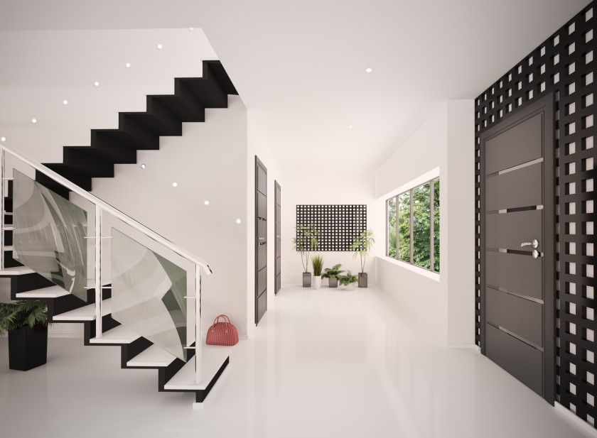 Stairs Stairways Staircases And Steps | Staircase In Hall Design | 2 Storey House | Low Budget | Step Side Wall | Steel Verandah | Mansion