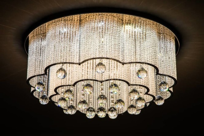 Close Up Of A Beautiful Crystal Chandeliers Min E1436033155688 High End And Unique