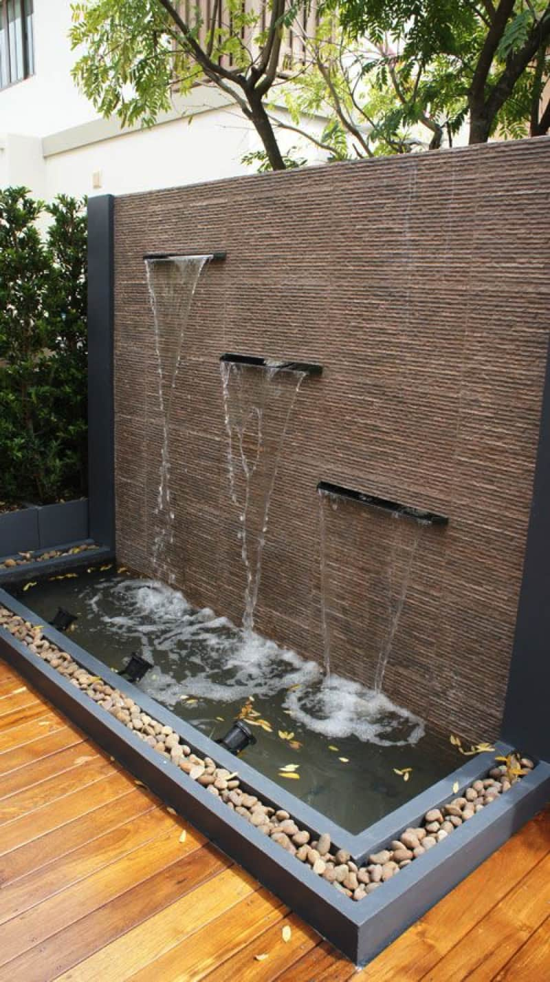 Outdoor Fountains And Water Features on Backyard Feature Walls  id=96107