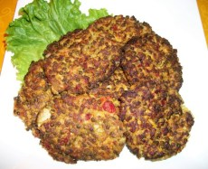 Curried Lentil and Rice Patties
