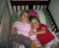 Tristan and Keira sleeping