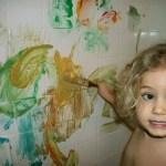Shaving Cream Bathtub Painting Leads to No Mess Fun